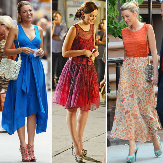 gossip girl season 6 blair and serena dress style