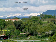 La Serra del Moixeró vist des del Camí Ral