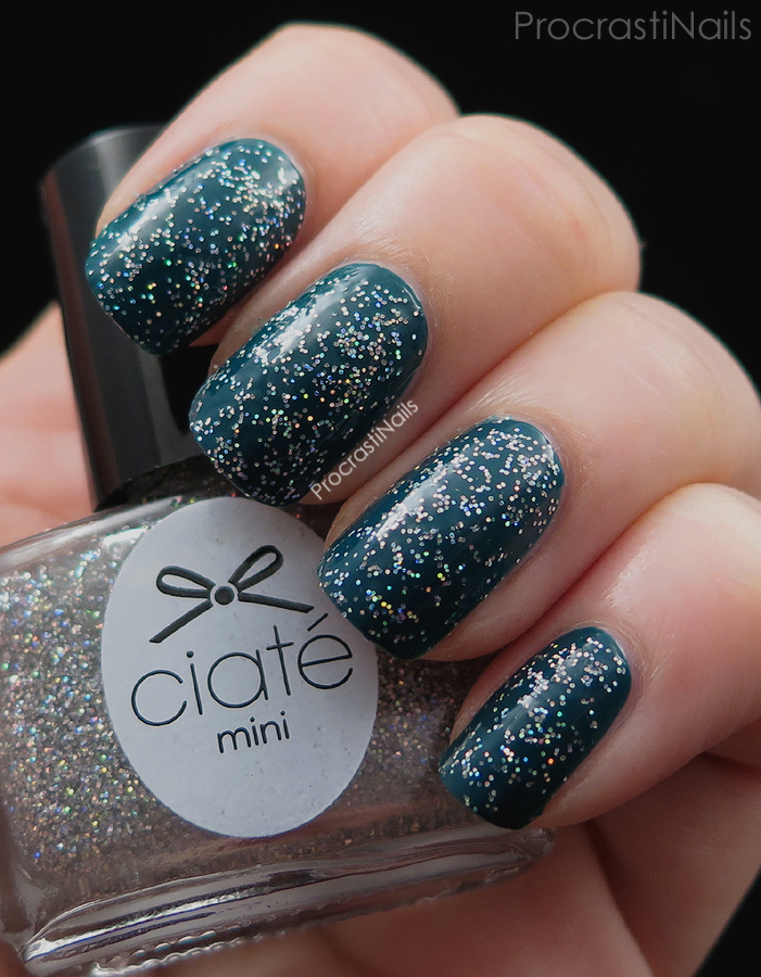 Swatch of Confetti over Superficial from the 2014 Ciaté Mini Mani Manor Advent Calendar