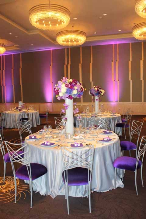 Four Seasons purple wedding, Seattle best wedding flowers, Flora Nova Design