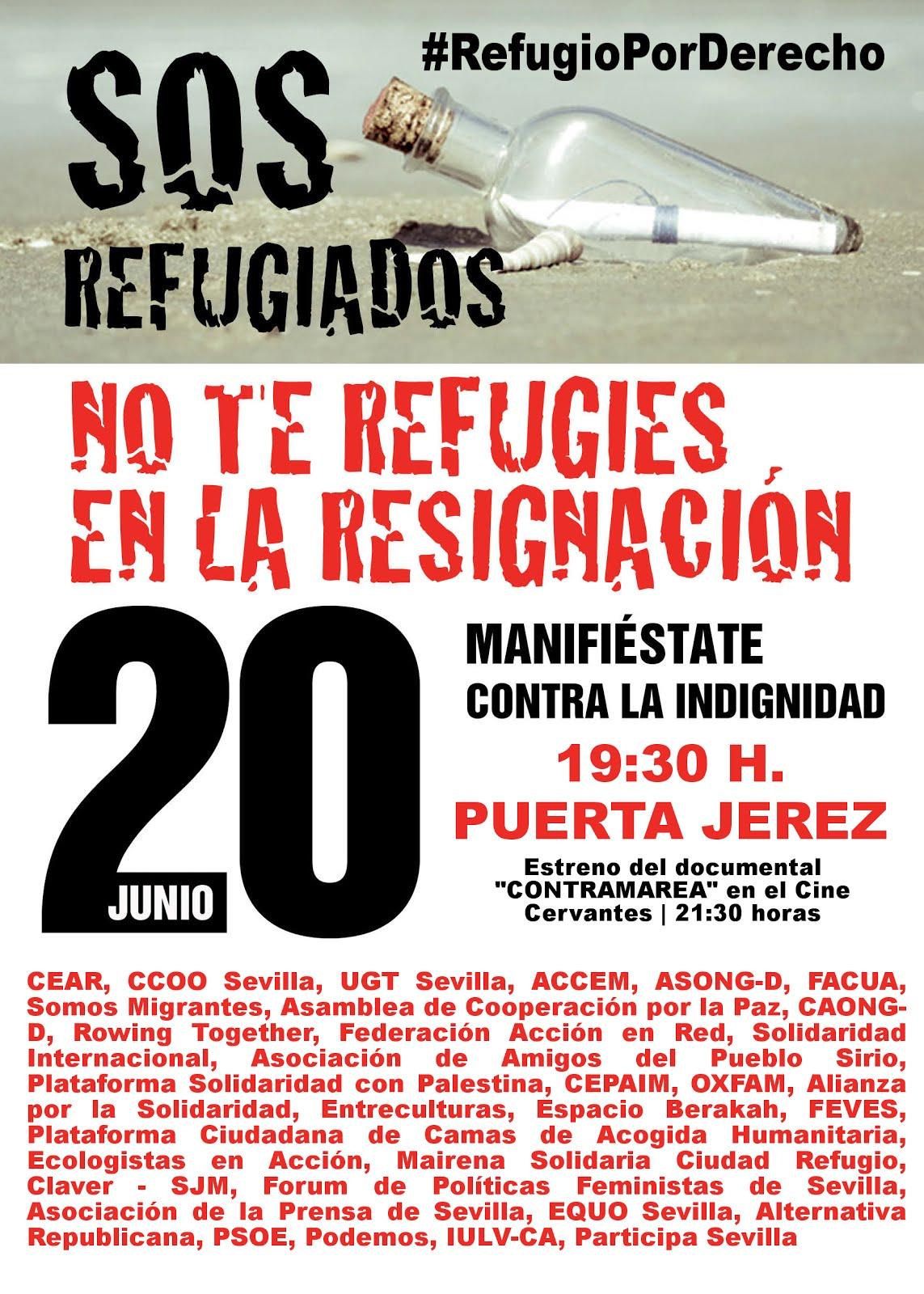 SOS Refugiados. Manifestación 20 junio