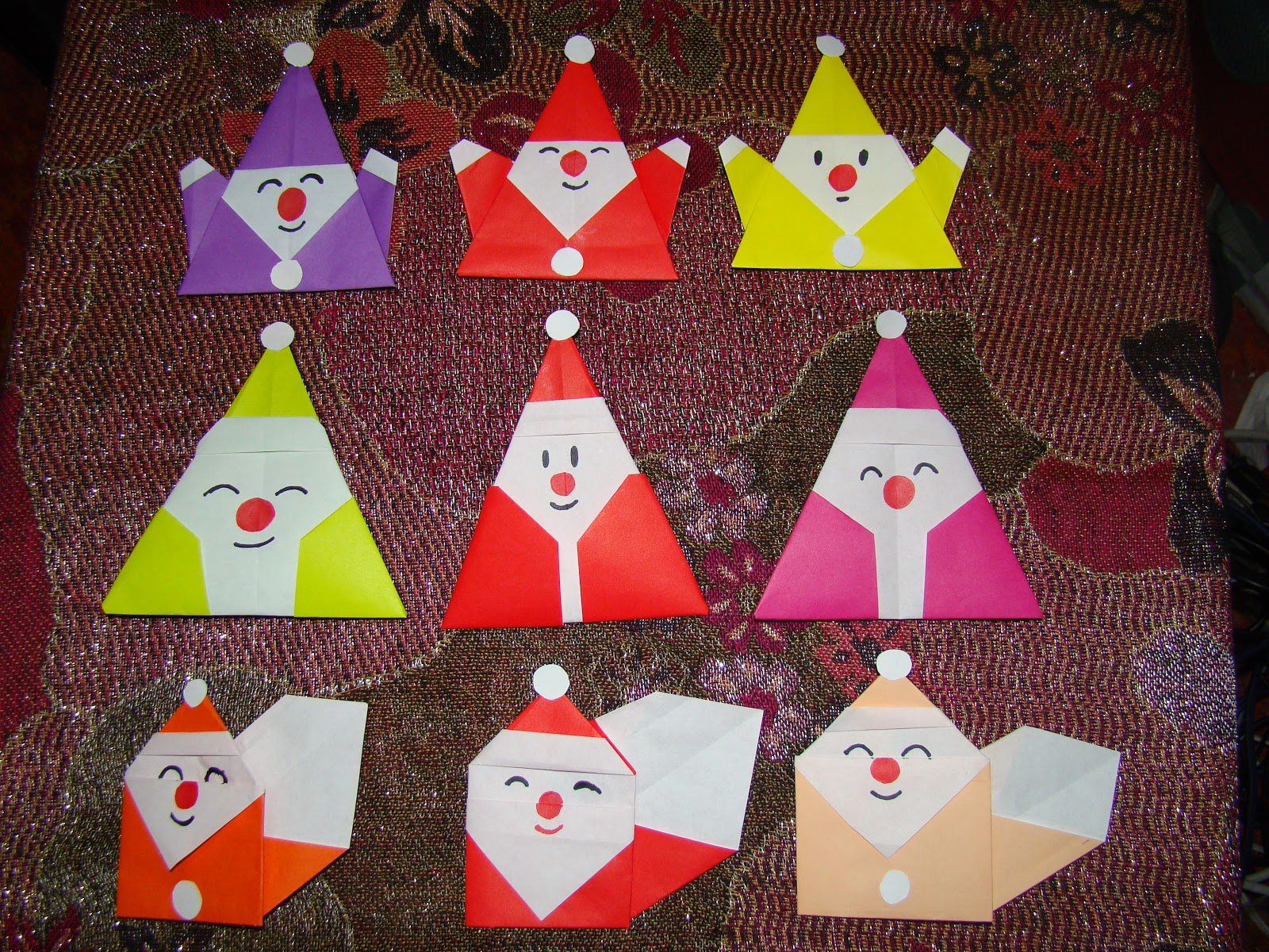 Origami maniacs three different kinds of origami santa claus for Make origami santa claus