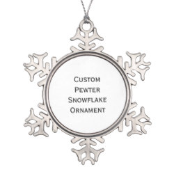 Custom Pewter Snowflake Photo Christmas Ornament