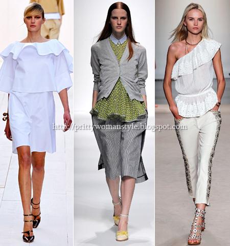 Летни блузи пеплум на Chloe, Sacai и Isabel Marant пролет-лято 2013