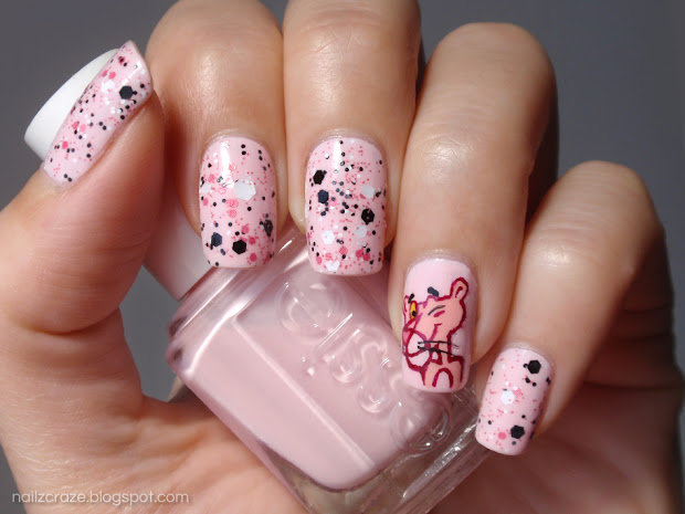 pink panther nail art - nailz