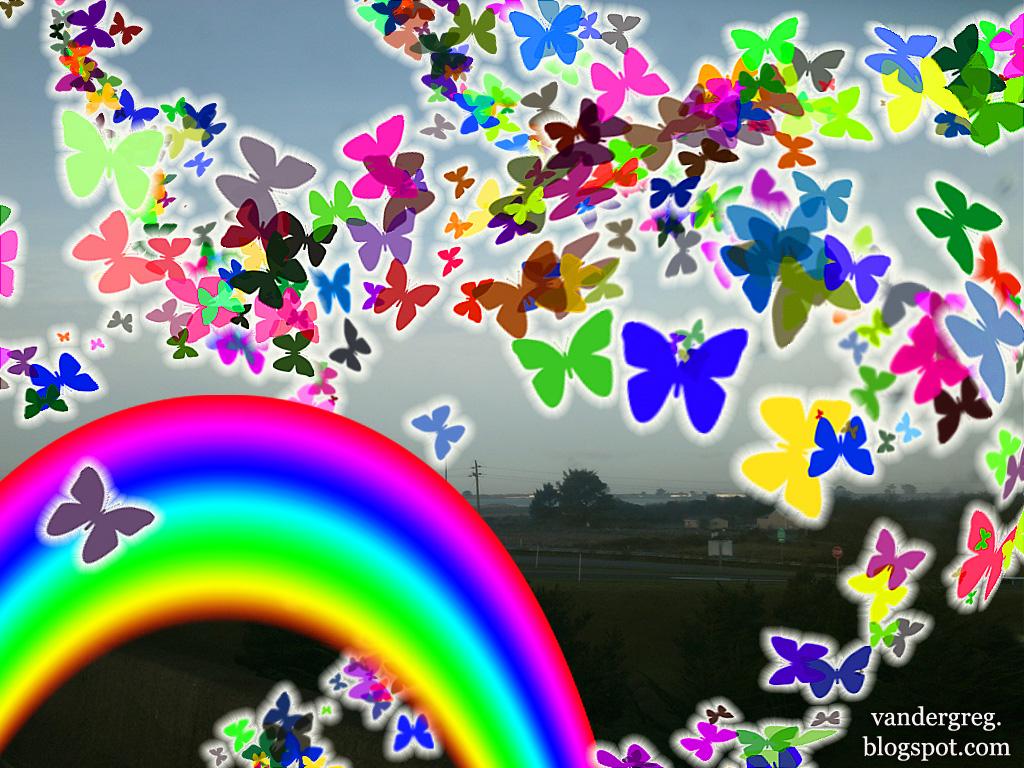 hd rainbow butterfly wallpaper - photo #26