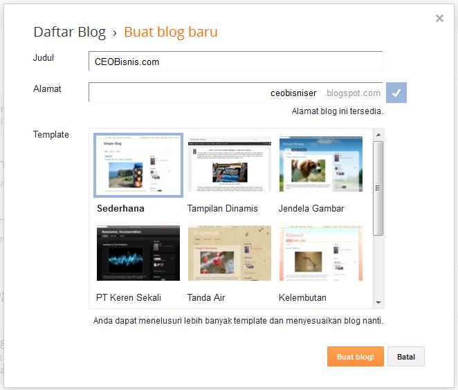 bikin blog gratis