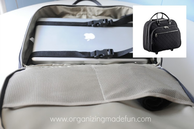 A rolling carry on to get you through the trek across the airport | OrganizingMadeFun.com