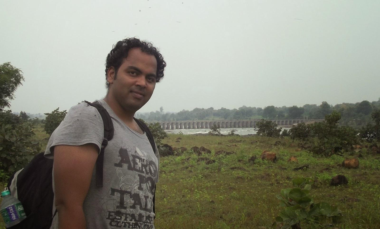 My friend.. Krishna SriVatsa on the way to Bridge.