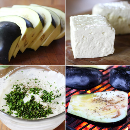 lisa is cooking: Grilled Aubergine with Creamed Feta