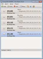 Free alarm clock portable okno programu