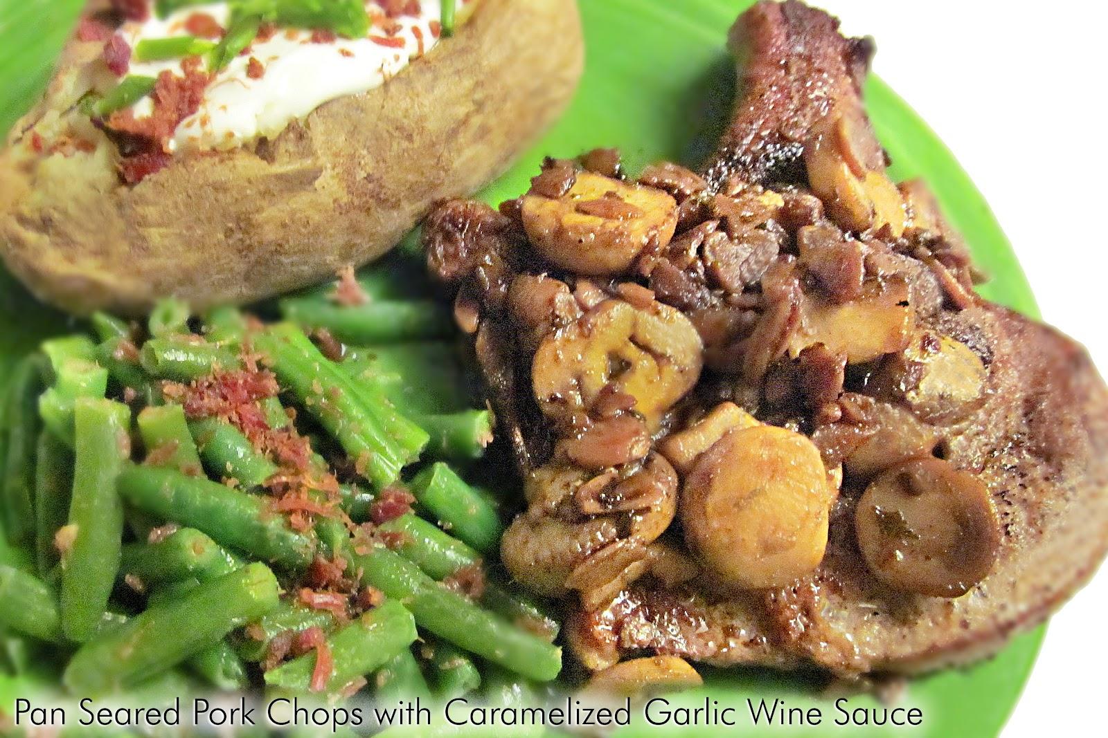 Pork Chops With Wine And Garlic Recipe — Dishmaps