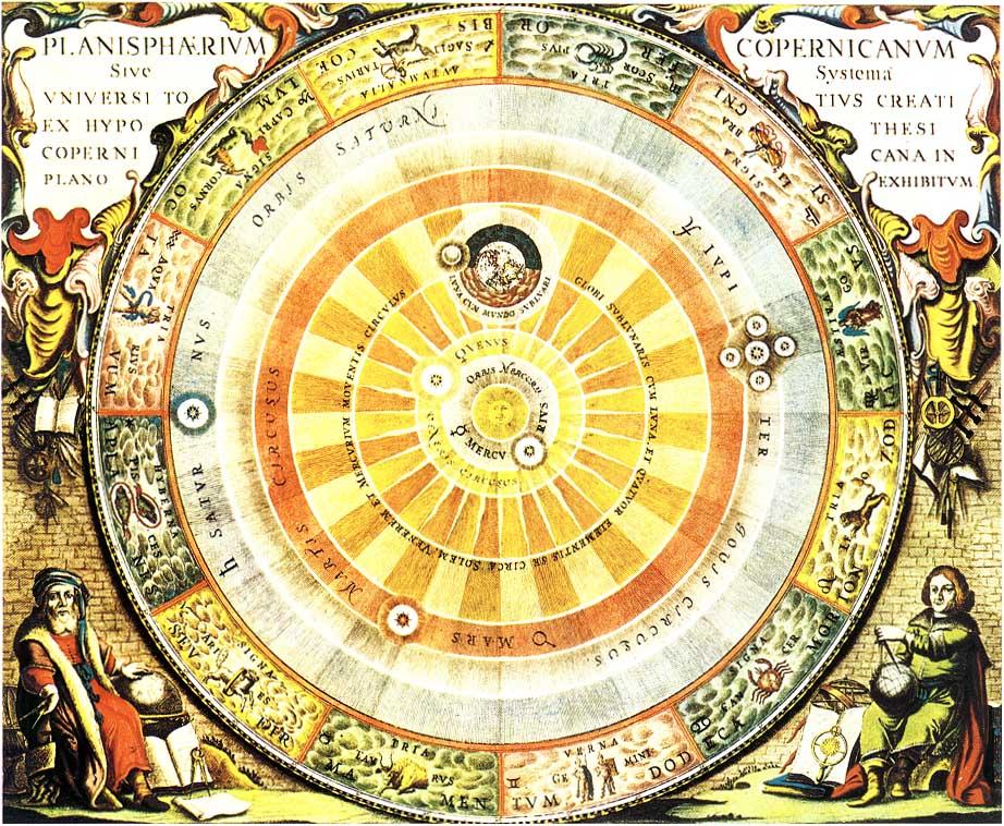 """Mi ciencia favorita: la astronomía. """"La ciencia que nos da a conocer nuestros orígenes"""". Heliocentrico+CMC"""