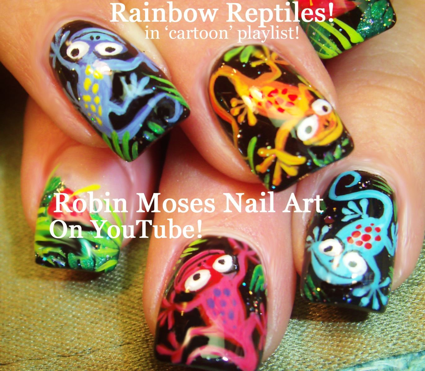 Robin Moses Nail Art February 2015: Robin Moses Nail Art: Rainbow Animal Paw Prints! Super