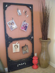 screen door pic holder...SOLD