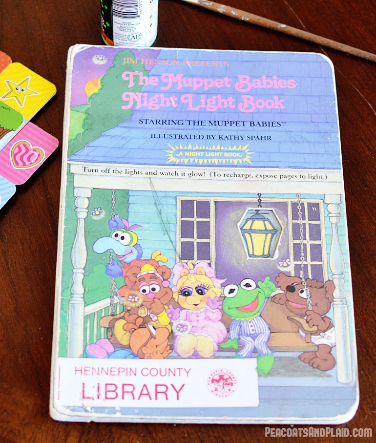 Muppet Babies night light bedtime book.
