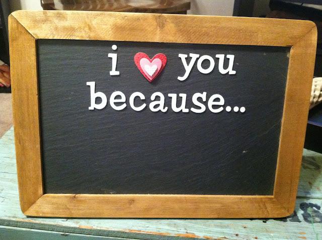 DIY chalkboard present