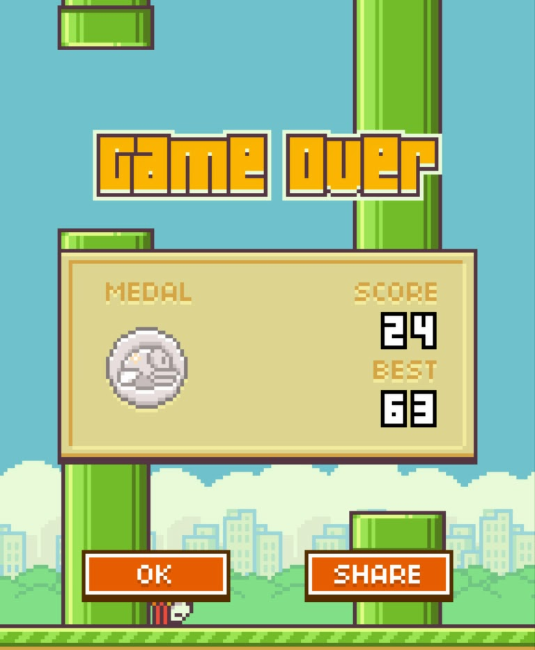 Flappy Bird best score