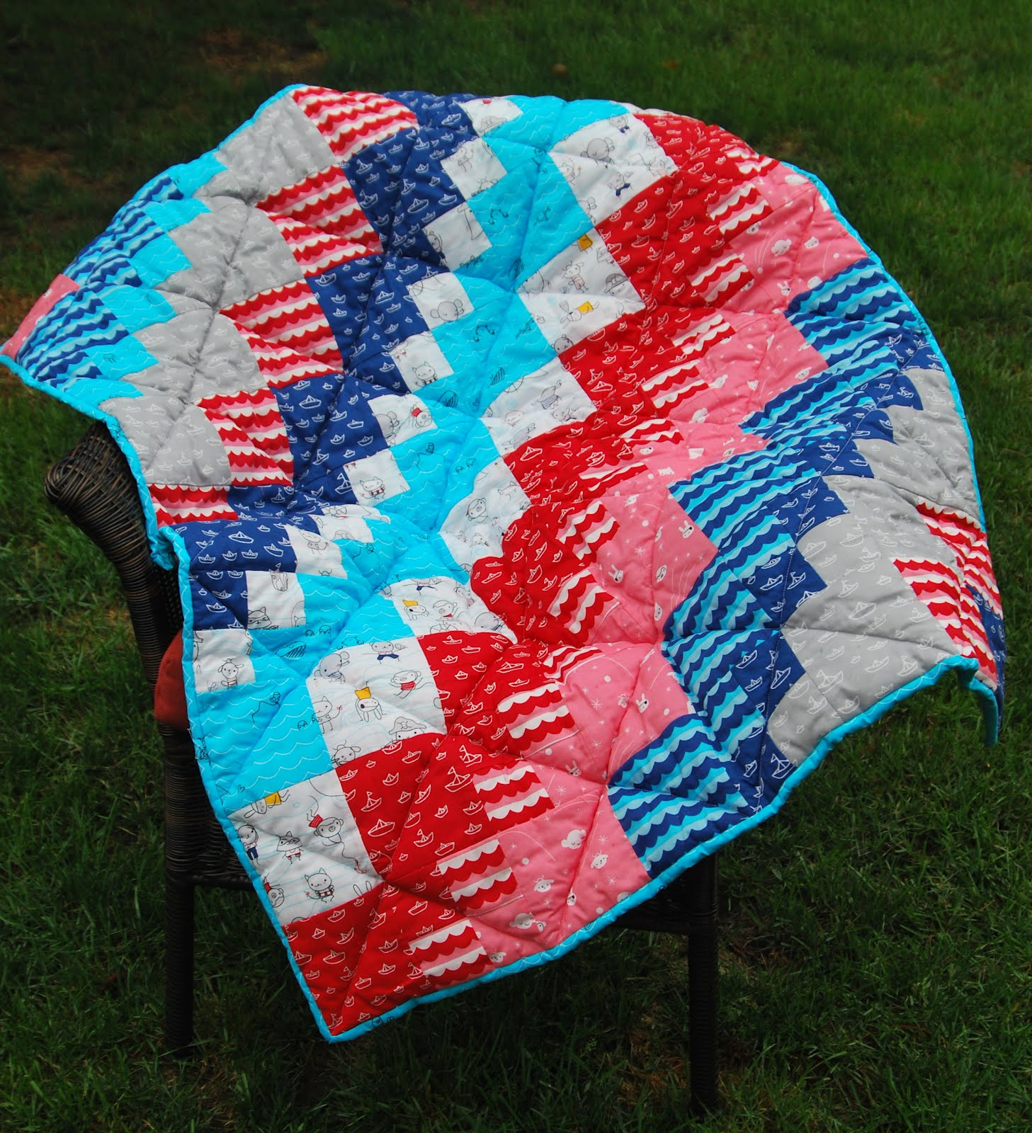 The Restitcherator: Amazing Square Dance Baby Quilt using Seven ... : bits n pieces quilt patterns - Adamdwight.com