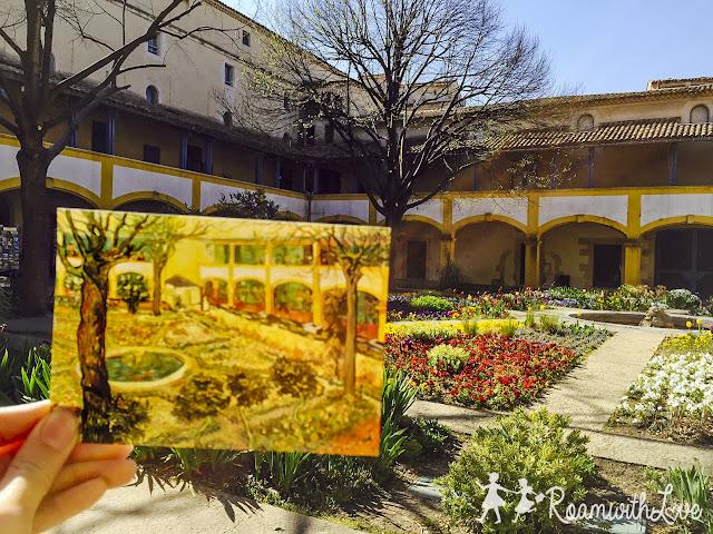 Honeymoon, ฮันนีมูน,review, france, โพรวองซ์, Provence, Arles,Vincent Van Gogh, ตามรอย,Arena,Espace Van Gogh,โรงพยาบาล,garden of the hospital in Arles