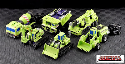 Versión Custom de los Constructicons de Transformers G1 de Maketoys
