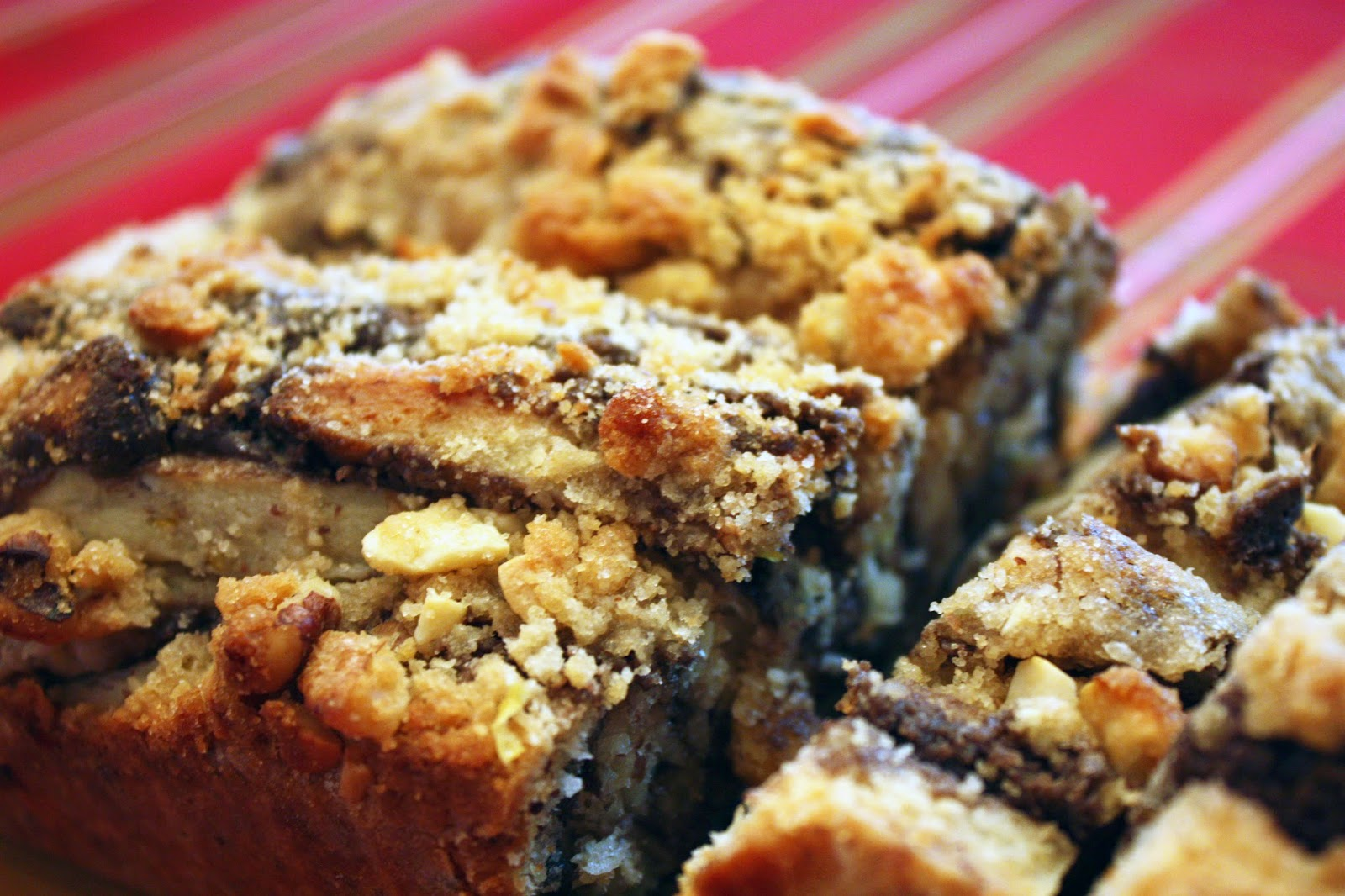 vegan chocolate hazelnut babka with streusel topping