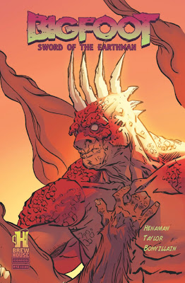 Bigfoot Sword of the Earthman issue four #4 cover bigfoot comic book bigfoot graphic novel barbarian comic