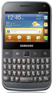 Samsung Galaxy Y Pro Duos design