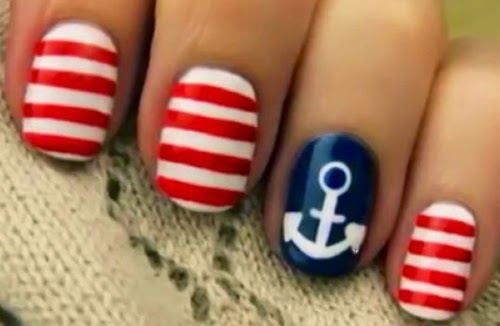 unas decoradas nauticas