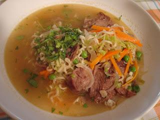 sopa morcillo verduras especias oriental