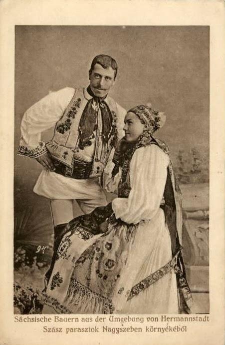 Cuplu de sasi din zona Sibiului
