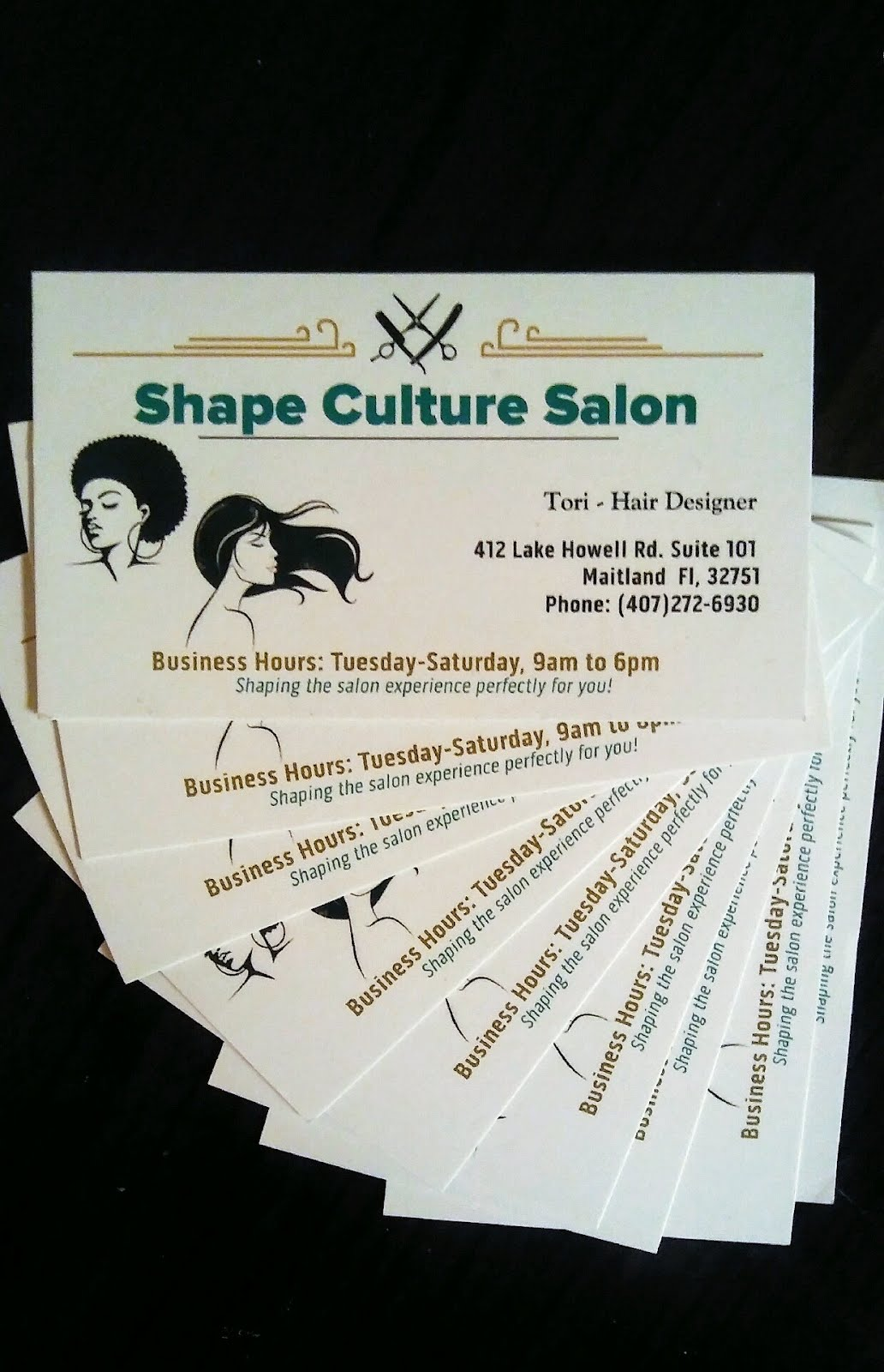 SHAPE CULTURE SALON 407-272-6930