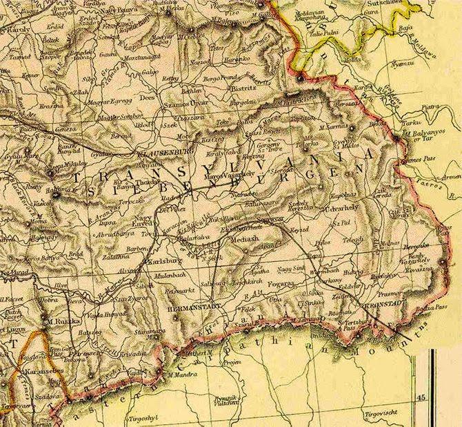 maps of transylvania in hungary the austrian empire and romania