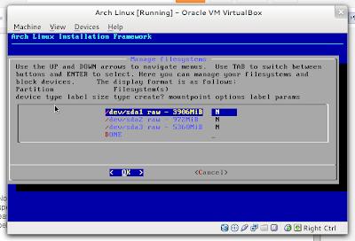 configure mountpoint AIF 1