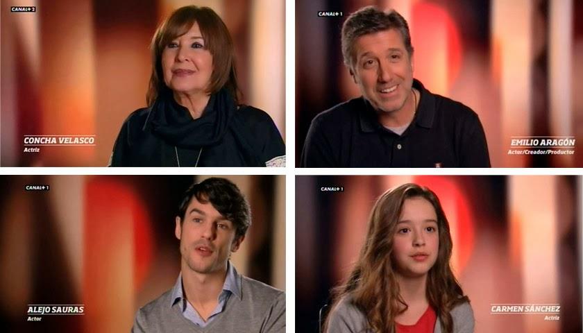 Cuatro generaciones de actores en España en serie, Compañeros, Médico de familia, Ángel o demonio, Al salir de clase, España en serie