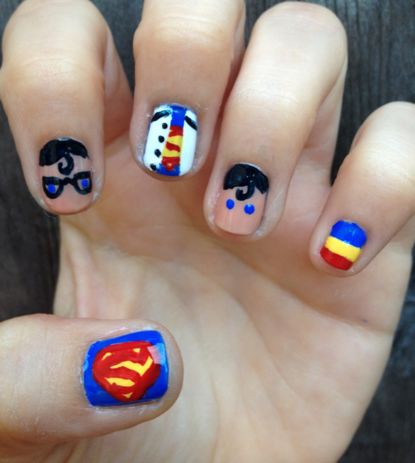 Miscellaneous Manicures: Superman Nails - Maynicure ...