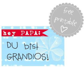 Vatertagskarte zum kostenlosen Ausdrucken