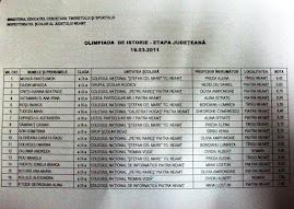 Rezultatele la Olimpiadă, clasa a IX-a