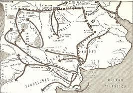 Mapa  de las acciones militares