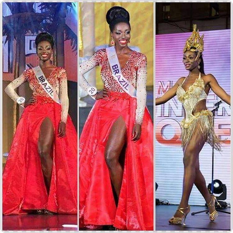 Valesca Dominik Ferraz ficar em segundo lugar no concurso Miss Internacional Queen 2015