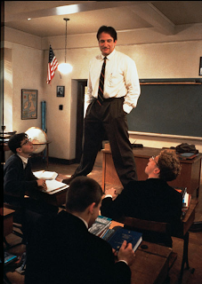 John Keating in Dead Poets Society