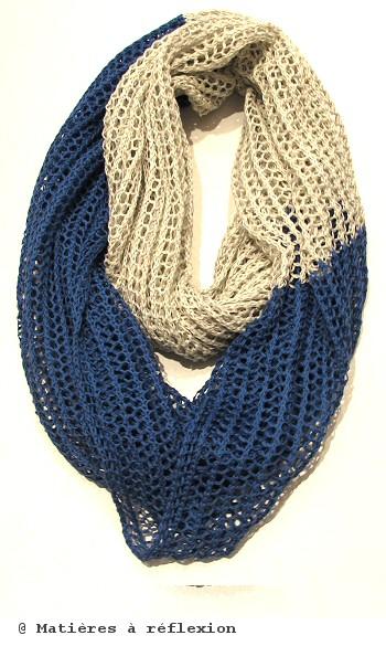 foulard Karakoram loop bleu