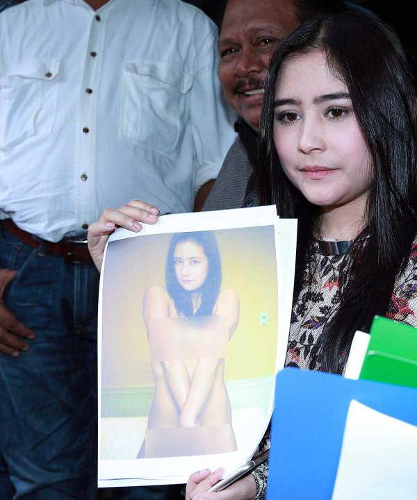 Foto Prilly Latuconsina yang di edit Haters