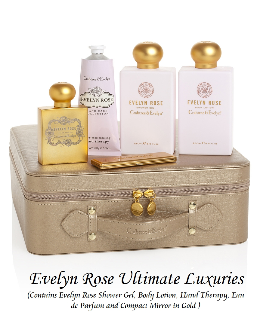 {New} Evelyn Rose Ultimate Luxuries (S$168.00) consist of Crabtree And Evelyn's signature scent blends of English roses with the exclusive Evelyn Rose for a ...