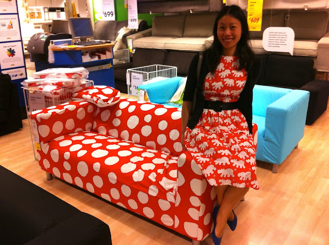 IKEA red Barnslig hippo dress