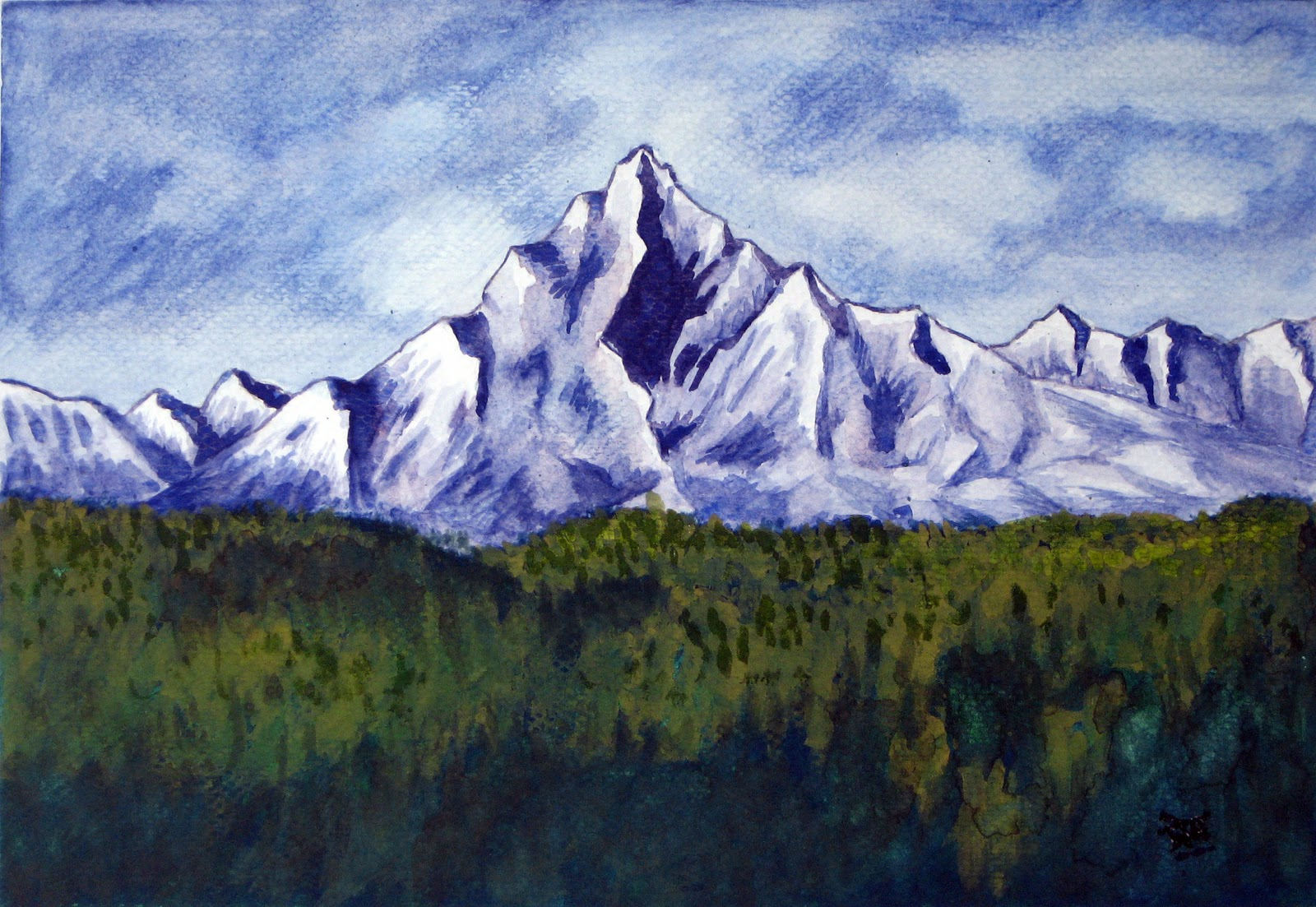 Gallery For gt Mountain Painting