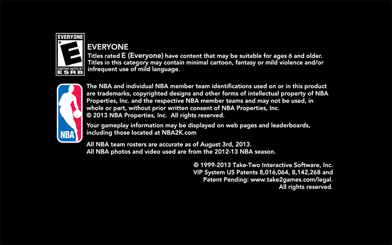NBA 2K14 PC Bootup Screen