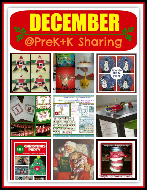 "December Crafts and Activities at ""PreK+K Sharing"""