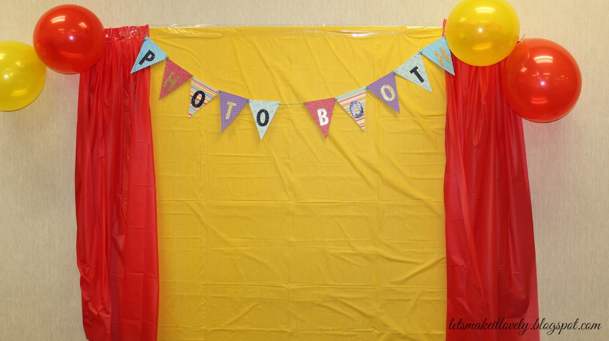 DIY Birthday party backdrop on budget. DIY colorful birthday banner. DIY personalized chocolate wrapper. DIY Cupcake stand. DIY photo booth. DIY return gift tags.
