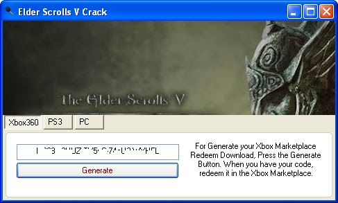 Elder Scrolls V Keygen Download For Xbox360, PS3 & PC Crack.